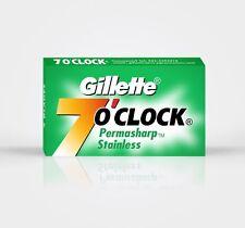 50 x GILLETTE 7 O'CLOCK PERMASHARP STAINLESS RAZOR BLADES FREE SHIP.