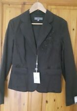 New Ladies Next NWT Short Embroidered Jacket Size 10 Charcoal Grey