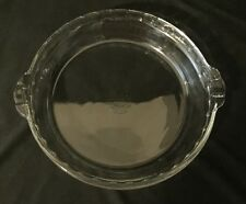 """Vintage PYREX 9 1/2"""" Pie Pan - Clear Fluted Glass #229 - Clean & Complete- USA"""