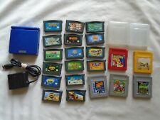 Nintendo Game Boy Advance SP handheld console with 21 games