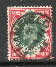 1912 SG312 SPEC M47 (1), 1/- Dark Green and Scarlet Framfield   cds