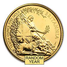 Great Britain 1/10 oz Gold Britannia BU/Proof (Random Year) - SKU #28127