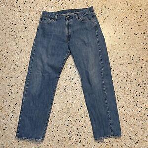 Ralph Lauren Polo Jeans Mens 36 Blue Classic Tapered Leg Pants Denim Logo