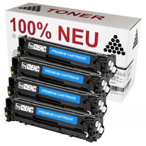 Set 4x Toner Patrone Kartusche   für HP Color Laserjet CP 1520 1525 N NW 128A