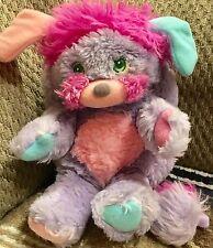 Vintage 1985 Mini Popples Plush Stuff Toy Purple Cute 80s Retro Fun
