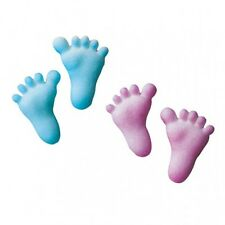 Sugar Decorations Cookie Cake Cupcake BABY FEET 12 ct.