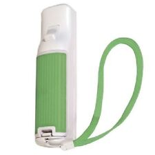 Green Wii Remote Rubber Battery Door Cover Lid Rubberized for Great Grip + Strap