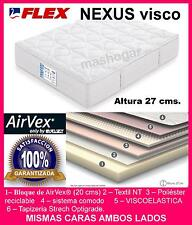 COLCHONES COLCHON AIRVEX  FLEX   NEXUS VISCO  135x190    ENTREGADO EN DOMICILIO