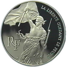 LTD SILVER COMMEMORATIVE COIN - BICENTENNIAL OF THE LOUVRE MUSEUM 1993 - 100 F