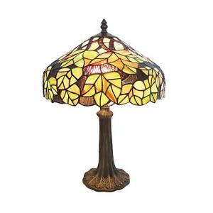 Green Maple Leaf Tiffany Table Lamp Hand Crafted (Inc Bulb) RM8 CR20
