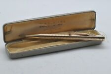 More details for lovely rare vintage 9ct solid gold yard o led propelling pencil boxed near mint