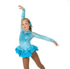 New Figure Skating Dress Jerry's 27 Dancing Sky Turquoise Silver  Size Youth 6-8
