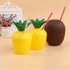 1x Kokosnuss Ananas Form Drink Cup Kid Bad Spielzeug Sommer Party Dekoration CJ