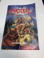 Brutal Paws of Fury SNES Super Nintendo Instruction Booklet Book Manual Only