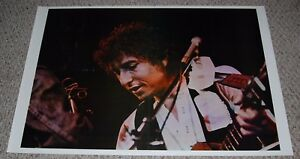 BOB DYLAN In Concert Close Up Playing Acoustic Guitar Poster 1970's