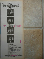 "THE DAMNED - IS IT A DREAM SINGLE 1985, B&W N.M.E. ADVERT PICTURE 15"" X 5.5"""