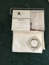 """NWT R Home Tafetta Luxury Window Grommet One Panel Beige(IVORY) Color 54"""" X 84"""""""