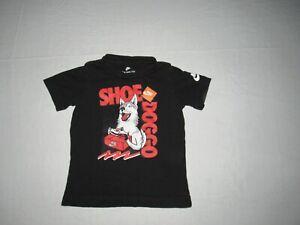 Nike Boy's Shoe Doggo Black Short Sleeve Shirt Youth Size 3T