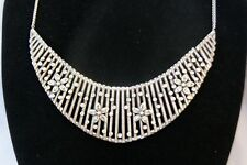 Nwt Authentic Brighton American Beauty Silver Crystal Flower Collar Necklace $98