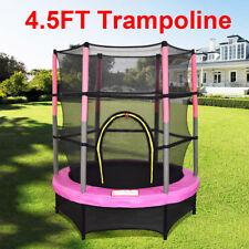 "4.5FT 55"" Junior Kids Child Trampoline Set With Safety Net Enclosure New"