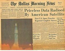 Space Travel FIRST U.S SPACE TRAVELER REPORTED COMPLETE SUCCESS Feb 2 1958 B1