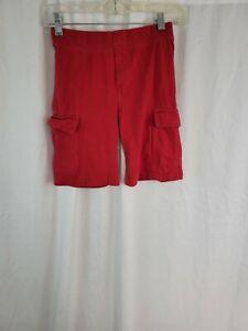 Gymboree Pull Up Cargo Shorts Red Boys Size 10