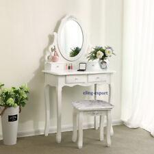 Coiffeuse table de maquillage avec tabouret tiroir miroir et pivotant