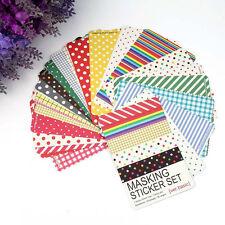27Pcs Decorative Wash Masking Tape Craft Stickers Pack Labeling Scrap-booking