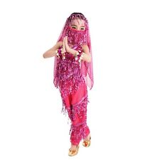Children Girl Kids School Perform Outfit Belly Dance Sequin Costume S M L XL XXL