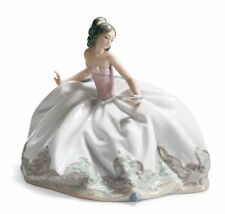 Lladro At The Ball Brand New In Box #5859 Lady Sitting Dress Flower #100 Off F/S