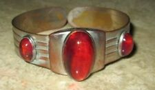 Vintage 1930's Pink Stone Hinged BRACELET w/Patent Number 1994826 dates to 1935