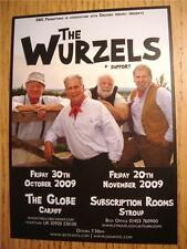 THE WURZELS FLYER - CARDIFF AND STROUD GIGS, FALL 2009