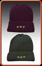 ESP NEW Carp Fishing Head Case Knitted Beanie Hat *Maroon Or Green*