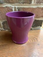 "Edible Arrangements VASE Planter Ceramic BERRY PURPLE 5.25""H Flower Pot"