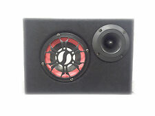 BOX SUBWOOFER CASSA SPEAKER AMPLIFICATO AUTO 100W TWEETER USB, SD, RADIO FM