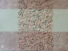 Abstrait sur bois signé Jean-Pierre Audren Rythme Calligrarythmes Signes ,