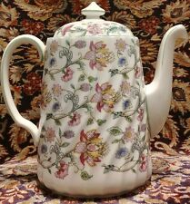 Minton HADDON HALL Coffee pot Floral Chintz green trim
