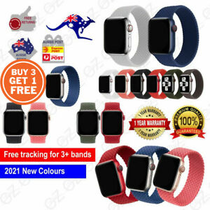 For Apple Watch 6 5 4 3 SE 38/40/42/44 mm Nylon Band Braided Solo Loop Strap