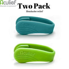 Aculief Tension and Headache Reliever Hand Acupressure - 2 pack (Green, Teal)
