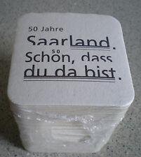 SAARLAND-JUBI STANGE BIERDECKEL-50 JAHRE SAARLAND-KARLSBERG-schön das Du da bist