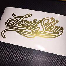 GLOSS GOLD Low'n'Slow Sticker Decal Stance Hellaflush Static JDM Euro VDUB KDM