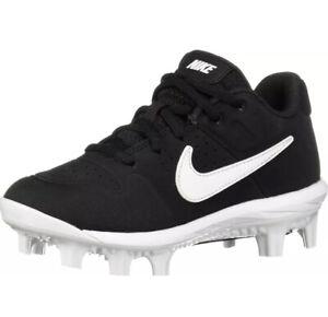 Nike Alpha Huarache Varsity Black Baseball Cleats Boys AO7583-001 size 1.5Y