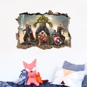Avengers Superhero 3D Bedroom Living Room Kids rooms Wall Decoration Movie Stick