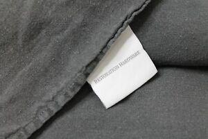 Restoration Hardware Stonewashed 100% Linen Duvet Full Charcoal Graphite USED