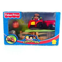 Fisher Price Little People 2002 Farm Tractor Dog Figure Playset Boxed Complete