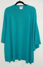 MICHAEL KORS Turquoise Cashmere Oversized Tunic Top Sweater Size M