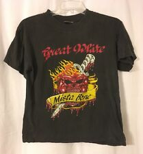 Vintage 1991 Great White Mista Bone To Be Wild Black Concert Tour T-Shirt Large