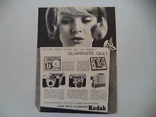 advertising Pubblicità 1960 KODAK STARLET/STARFLASH/RETINETTE/RETINA/KODAMAT