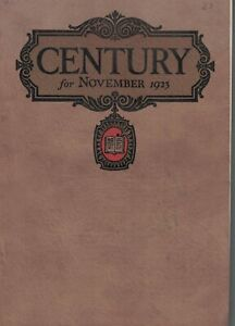 1923 Century November - Ibsen; Mary Austin, Northern Japan; Old New England