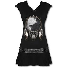 Spiral Direct WOLF CHI Stud Waist Mini Dress, Yin Yang, Dream Catcher, Native